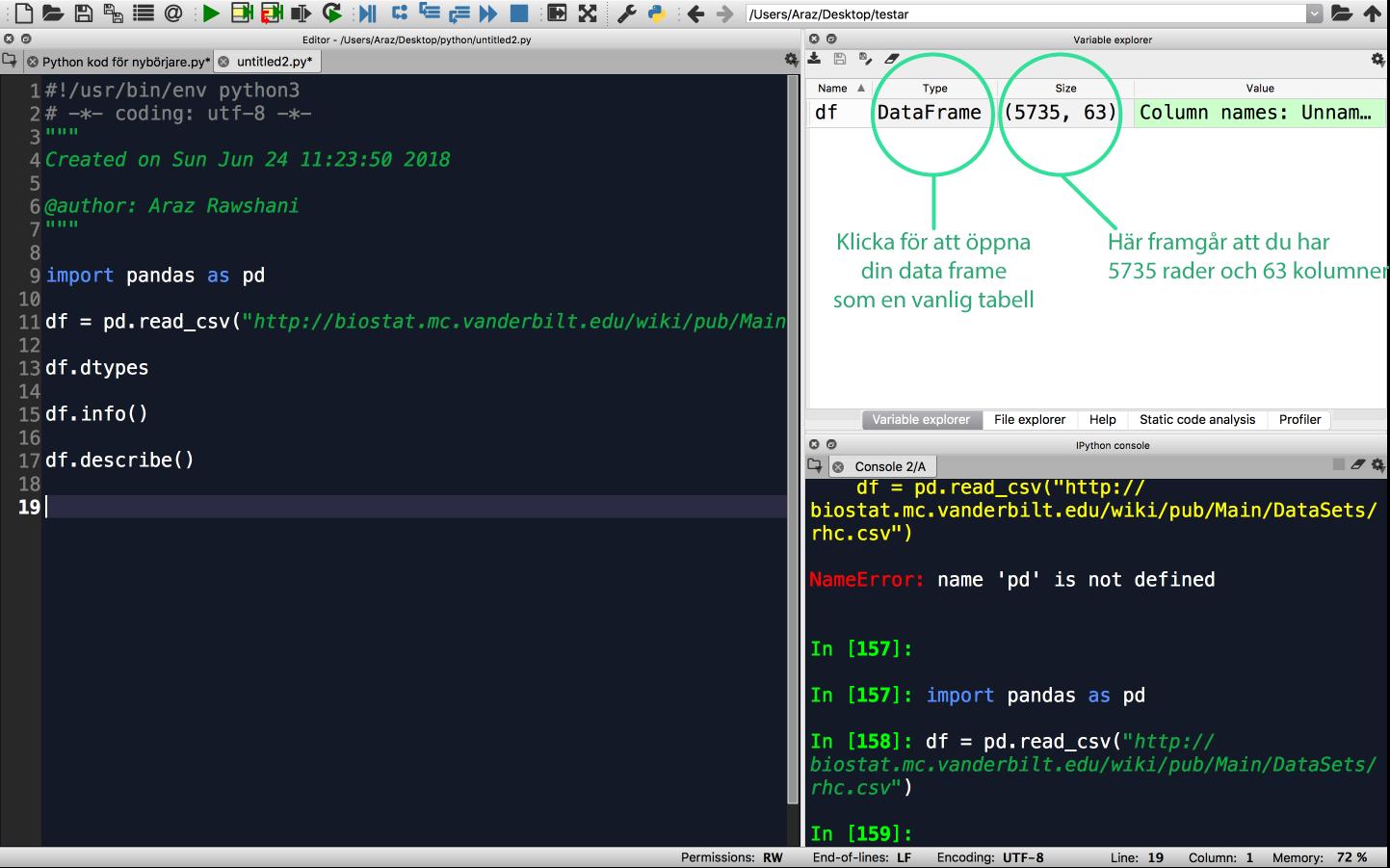 Python Variable Explorer