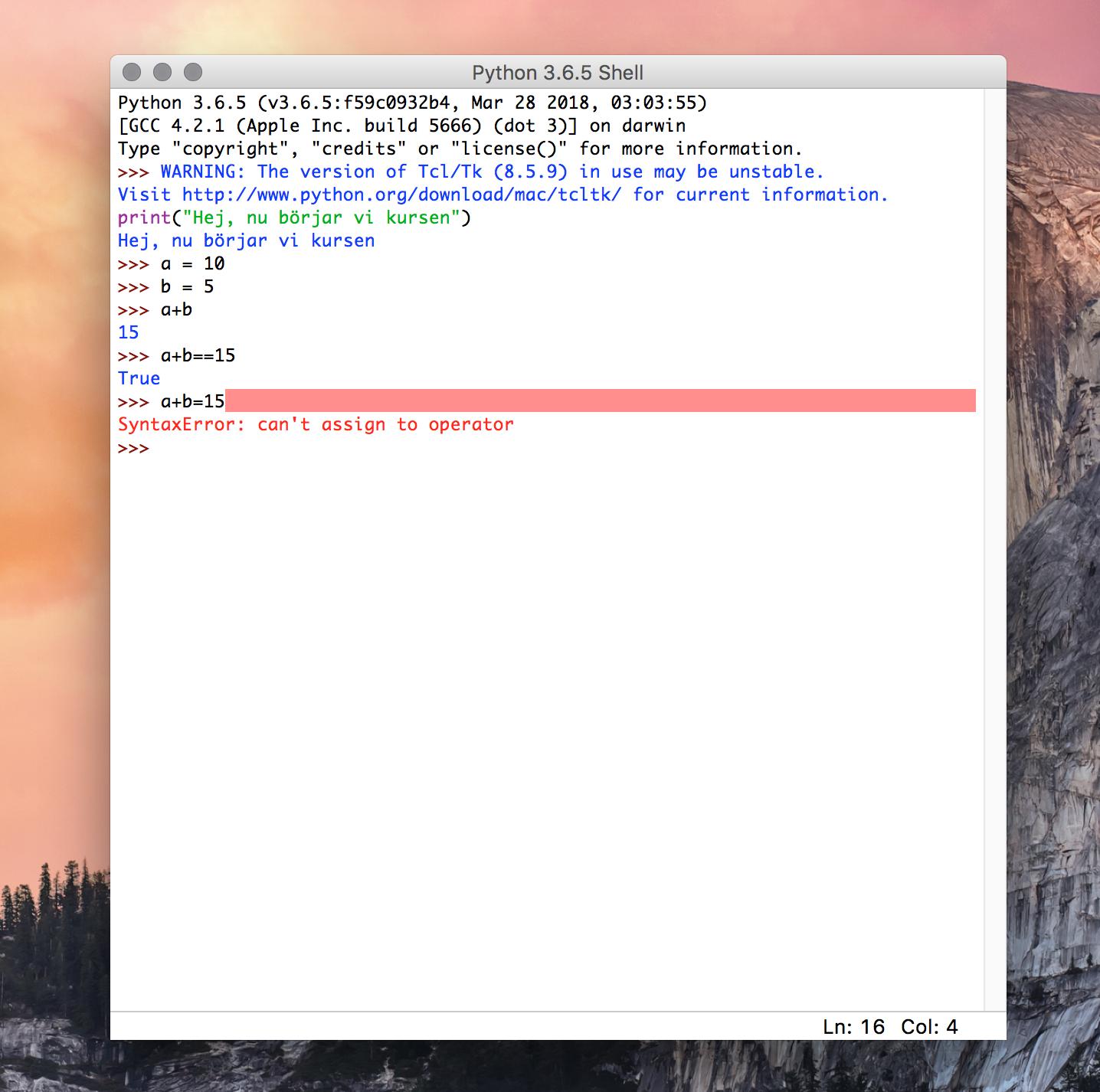 Python Shell (IDLE)